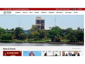 University of Lagos's Website Screenshot