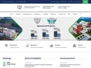 National Institute of Technology, Karnataka's Website Screenshot