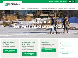 Université de Sherbrooke's Website Screenshot