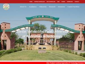 Sardar Vallabhbhai Patel University of Agriculture and Technology's Website Screenshot