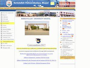 Barkatullah University Screenshot