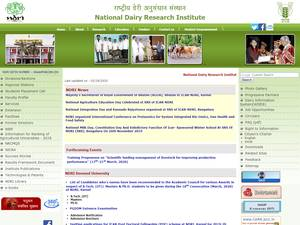 National Dairy Research Institute's Website Screenshot