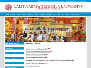 Lalit Narayan Mithila University Screenshot