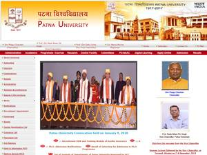 Patna University's Website Screenshot