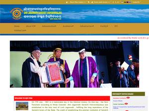 Shri Jagannath Sanskrit Vishvavidyalaya's Website Screenshot