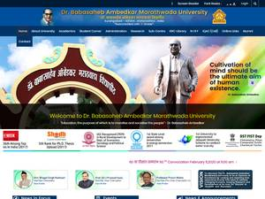 Dr. Babasaheb Ambedkar Marathwada University's Website Screenshot