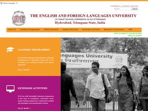 The English and Foreign Languages University's Website Screenshot