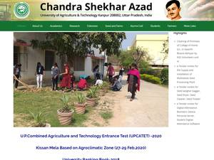 Chandra Shekhar Azad University of Agriculture and Technology Screenshot