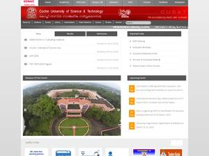 Cochin University of Science and Technology Screenshot