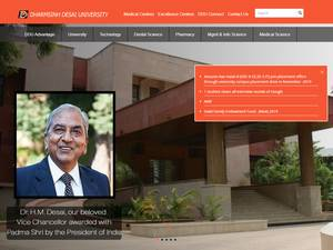 Dharmsinh Desai University's Website Screenshot