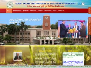 Govind Ballabh Pant University of Agriculture and Technology's Website Screenshot