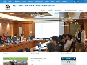Indira Gandhi Institute of Development Research Screenshot