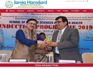 Jamia Hamdard's Website Screenshot