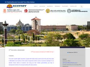 Sri Chandrasekharendra Saraswathi Viswa Mahavidyalaya Screenshot
