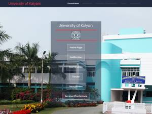 University of Kalyani Screenshot
