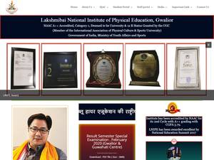 Lakshmibai National Institute of Physical Education's Website Screenshot