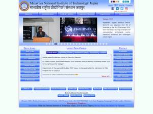 Malaviya National Institute of Technology, Jaipur's Website Screenshot