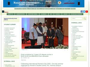 Nagaland University's Website Screenshot