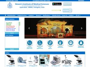 Nizam's Institute of Medical Sciences's Website Screenshot