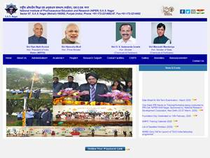 National Institute of Pharmaceutical Education and Research, Mohali's Website Screenshot