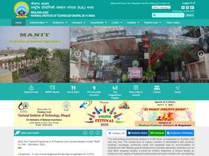 Maulana Azad National Institute of Technology's Website Screenshot