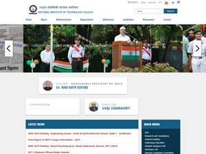 National Institute of Technology, Calicut's Website Screenshot