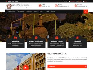 National Institute of Technology, Rourkela's Website Screenshot