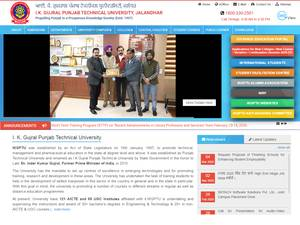 Punjab Technical University's Website Screenshot