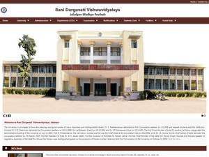 Rani Durgavati Vishwavidyalaya's Website Screenshot