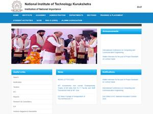National Institute of Technology, Kurukshetra's Website Screenshot