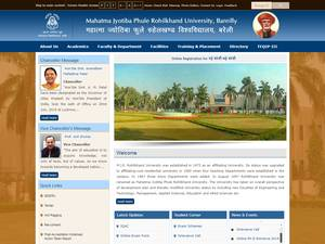 M.J.P. Rohilkhand University Screenshot