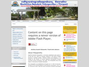 National Sanskrit University's Website Screenshot