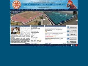 Veer Narmad South Gujarat University's Website Screenshot