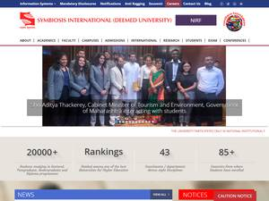 Symbiosis International University's Website Screenshot