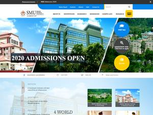 Sikkim Manipal University's Website Screenshot