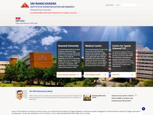 Sri Ramachandra Institute of Higher Education and Research's Website Screenshot