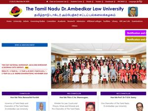 Tamil Nadu Dr Ambedkar Law University's Website Screenshot