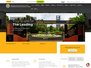 Visvesvaraya Technological University's Website Screenshot
