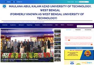 Maulana Abul Kalam Azad University of Technology's Website Screenshot