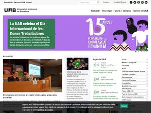 Universitat Autónoma de Barcelona's Website Screenshot