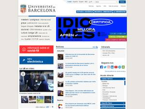 Universidad de Barcelona's Website Screenshot