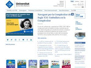 Universidad de les Illes Balears's Website Screenshot