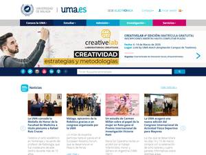 Universidad de Málaga's Website Screenshot