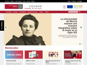 Universidad de Murcia's Website Screenshot