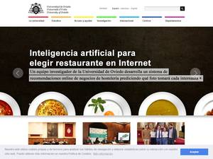 Universidad de Oviedo's Website Screenshot