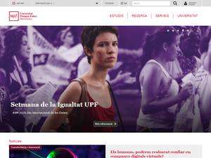 Universitat Pompeu Fabra's Website Screenshot