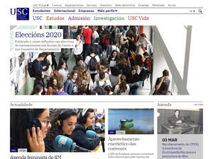 Universidad de Santiago de Compostela's Website Screenshot