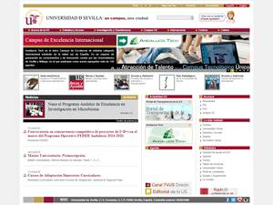 Universidad de Sevilla's Website Screenshot