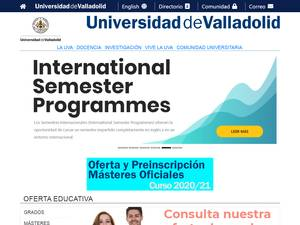 Universidad de Valladolid's Website Screenshot