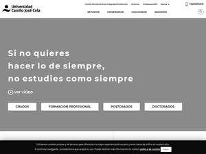 Universidad Camilo José Cela's Website Screenshot
